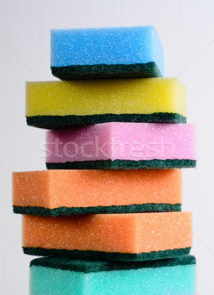 Takarítás narancs kék szín szerszám struktúra Stock fotó © Sarkao