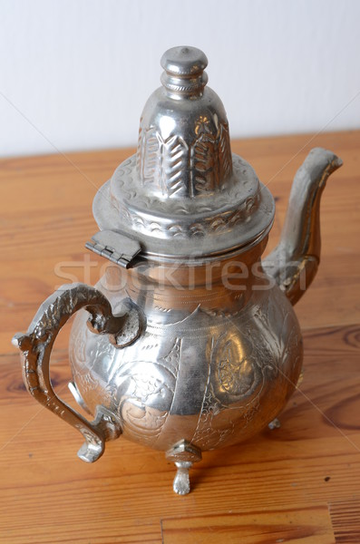 Antika sürahi kahve çay Retro Stok fotoğraf © Sarkao