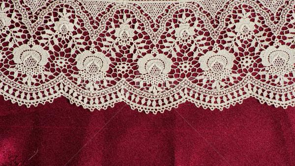 кружево кадр вино фон ткань красный Сток-фото © Sarkao