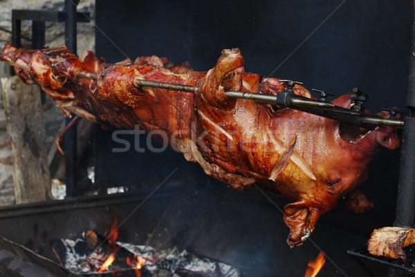 свинья гриль мяса голову празднования барбекю Сток-фото © Sarkao