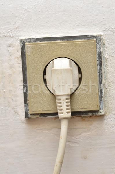 Socket plastique plug détail Photo stock © Sarkao