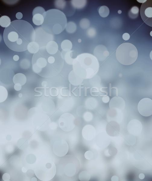 Tél bokeh fény háttér fehér karácsony Stock fotó © Sarkao