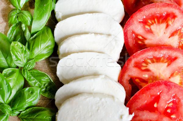 Comida italiana alimentos hoja verde queso color Foto stock © Sarkao