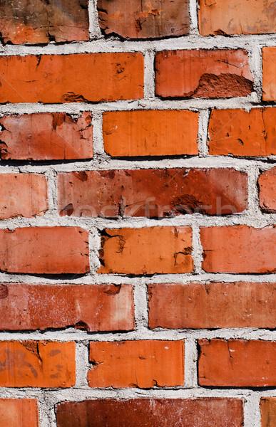 Téglafal fal háttér tégla építészet struktúra Stock fotó © Sarkao