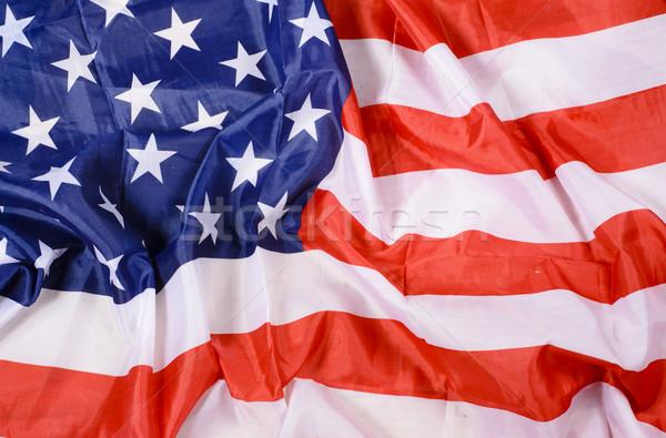 США флаг подробность звездой ткань красный Сток-фото © Sarkao