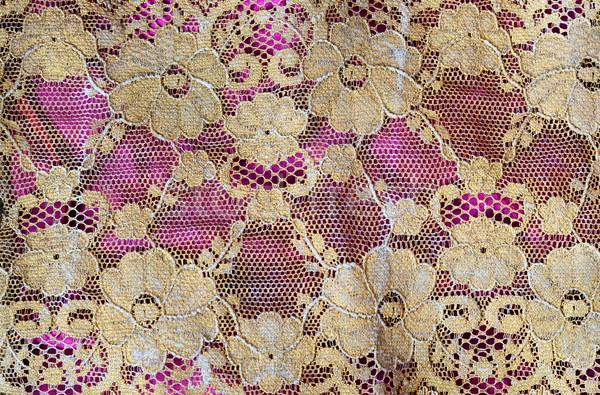 Pizzo oro seta lusso struttura Foto d'archivio © Sarkao