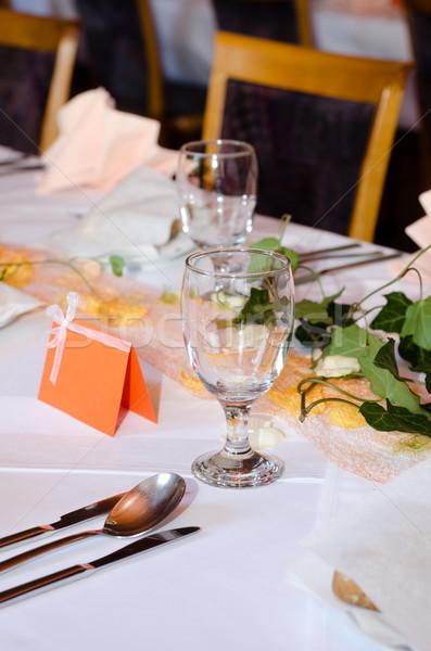 wedding table Stock photo © Sarkao