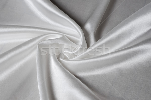 white silk satin fabric Stock photo © Sarkao