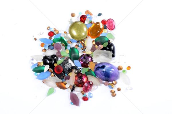 üveg drágakövek iparművészet hold zöld fekete Stock fotó © Sarkao