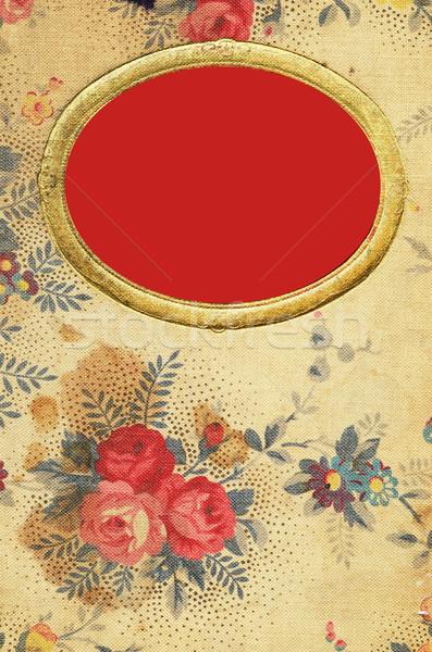 Antyczne kwiatowy dziennik okładka kwiat książki Zdjęcia stock © Sarkao