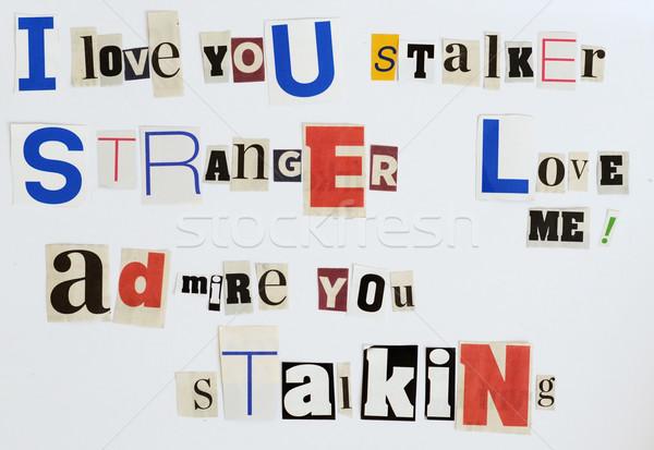 threatening letter Stock photo © Sarkao