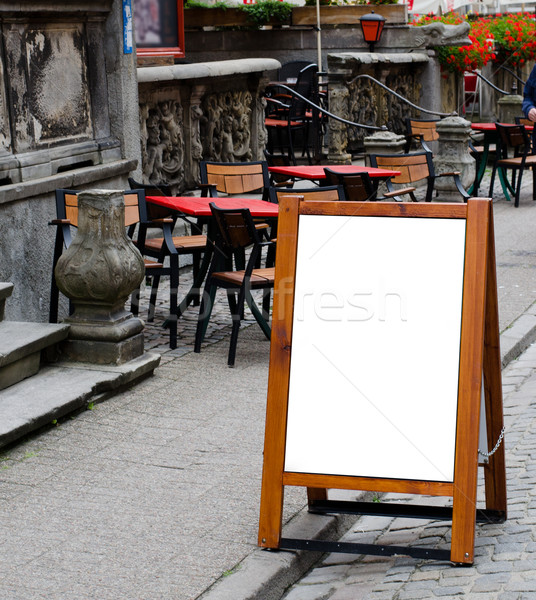 empty menu board with clipping path Stock photo © Sarkao