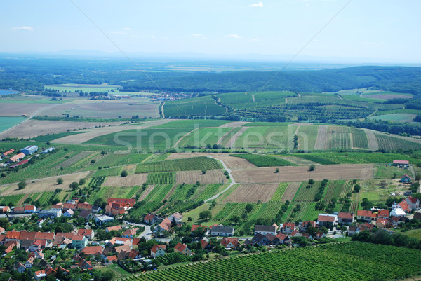 Stock photo: picture of landscape in south czech republic
