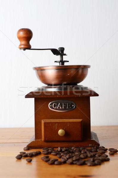 Kahve mutfak tablo içmek araç antika Stok fotoğraf © Sarkao