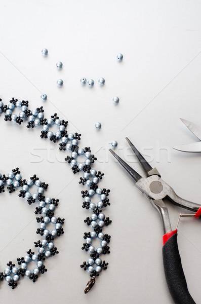 Сток-фото: ювелирные · инструменты · черный · ножницы