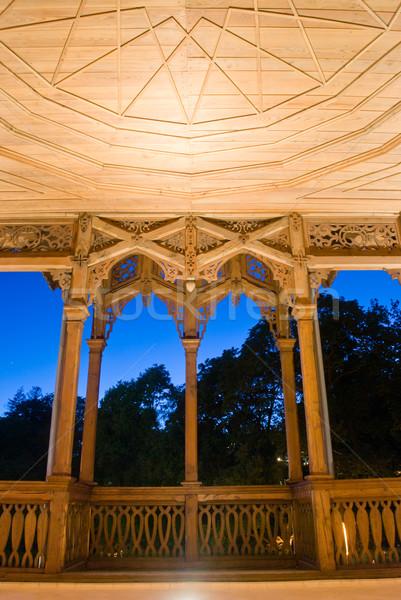 Történelmi kert ház éjszaka nyár utazás Stock fotó © Sarkao