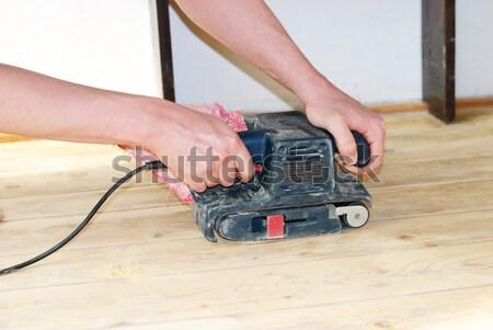 polishing the wood Stock photo © Sarkao