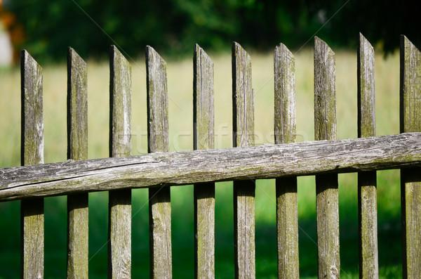 öreg fából készült kerítés textúra kert Stock fotó © Sarkao