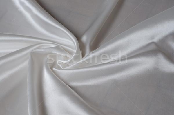 Blanco seda raso tejido Foto stock © Sarkao