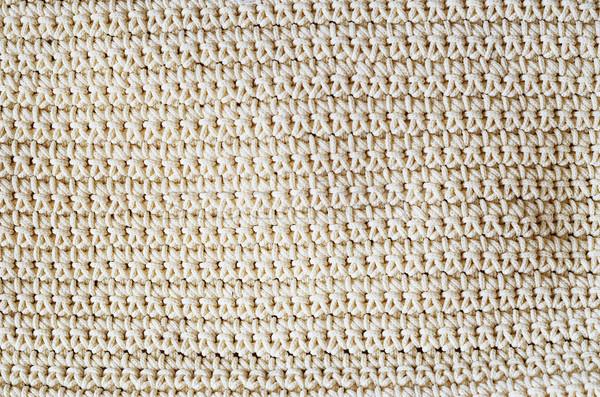 Crochê estrutura textura fundo fio Foto stock © Sarkao
