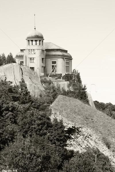 Fantázia tájkép kisértetjárta ház épület Stock fotó © Sarkao