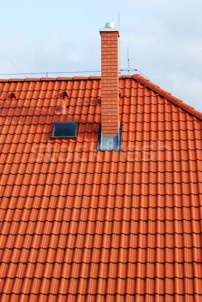 Tető textúra ablak narancs építészet új Stock fotó © Sarkao