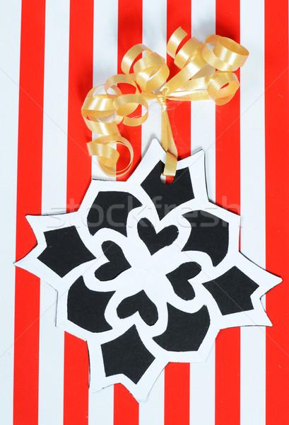 christmas gift with handmade tag Stock photo © Sarkao