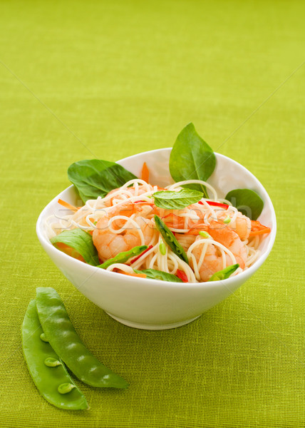 prawn noodle salad Stock photo © sarsmis