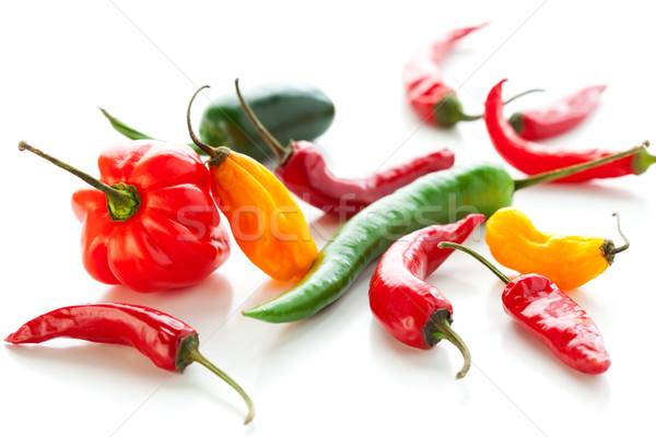 Mixed hot peppers Stock photo © sarsmis