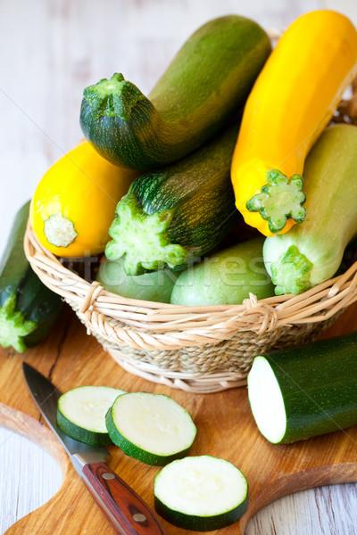 Amarillo verde calabacín frescos alimentos dieta Foto stock © sarsmis