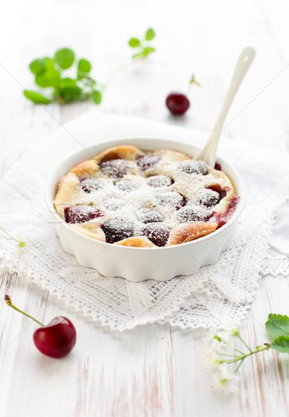 Cherry Clafoutis  Stock photo © sarsmis