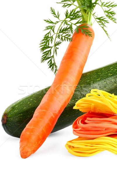 пасты продовольствие зеленый Кука морковь желтый Сток-фото © sarsmis