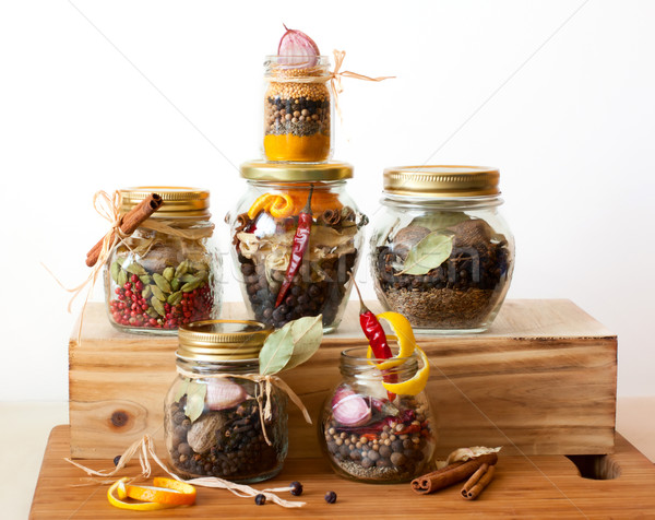 herb mixtures and spicy blends Stock photo © sarsmis