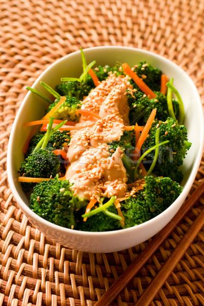 брокколи кунжут Тофу одевание весны продовольствие Сток-фото © sarsmis