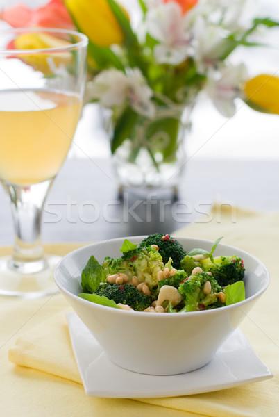 Brócoli pino tuerca ajo chile vegetales Foto stock © sarsmis