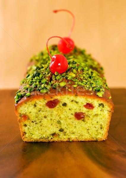 Pão bolo cereja comida sobremesa Foto stock © sarsmis