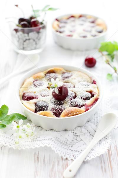 Cereza azúcar en polvo platos alimentos cocina Foto stock © sarsmis