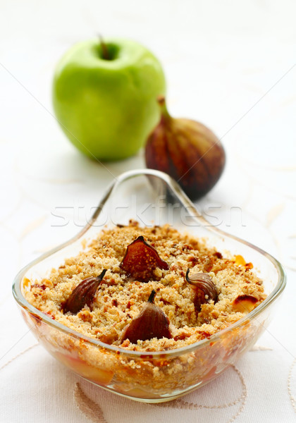 crumble with apple and figs Stock photo © sarsmis