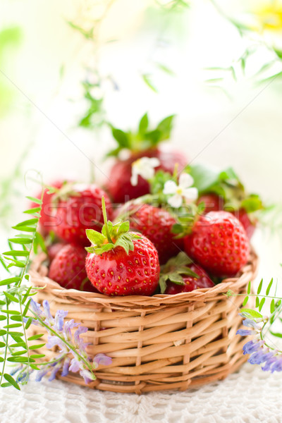 fresh strawberries  Stock photo © sarsmis