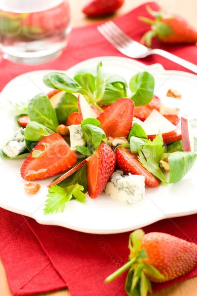 Stock fotó: Saláta · gyümölcs · zöld · sajt · piros · eper
