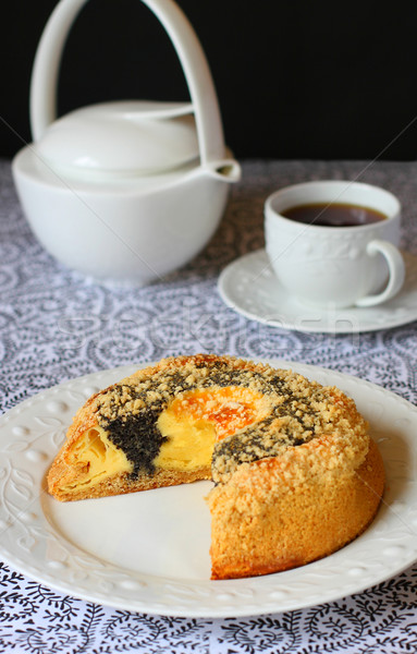 Amapola semillas torta casero placa postre Foto stock © sarsmis