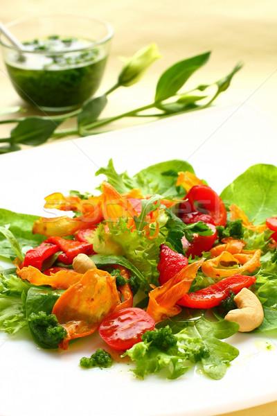 Salade patate douce poivre tomate Photo stock © sarsmis