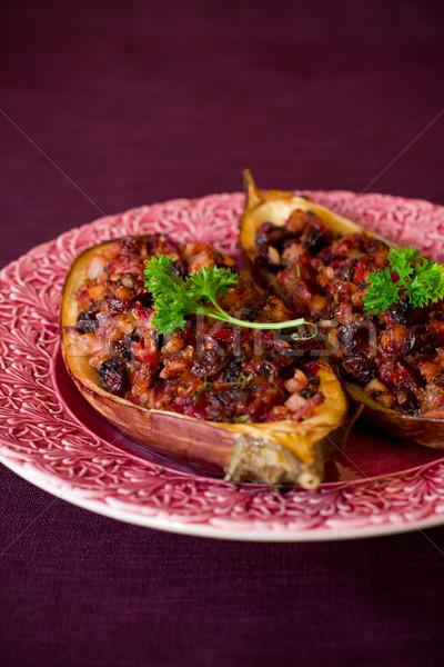 Berinjela recheado legumes jantar Foto stock © sarsmis