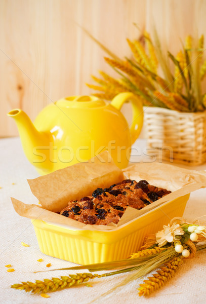 Gyümölcskenyér hagyományos házi készítésű tea cipó torta Stock fotó © sarsmis