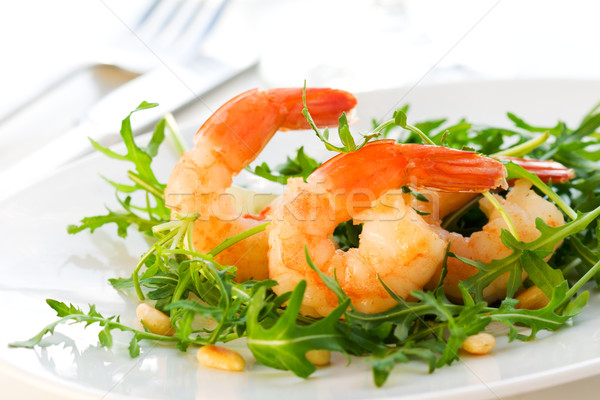 shrimp salad Stock photo © sarsmis