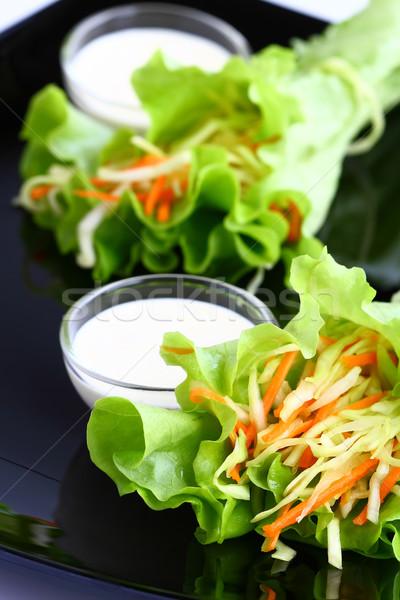 капустный салат Приправа для салата Салат морковь растительное блюдо Сток-фото © sarsmis