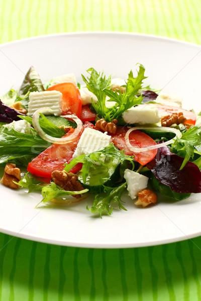 Fresco salada verde queijo refeição Foto stock © sarsmis