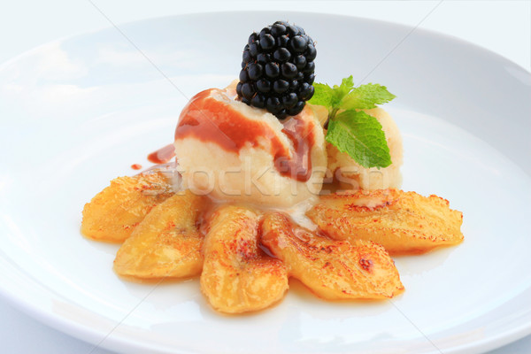 Fried bananas with ice cream  Stock photo © sarsmis