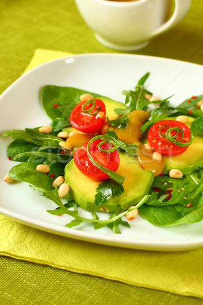 Avocado salade moer voedsel sla niemand Stockfoto © sarsmis