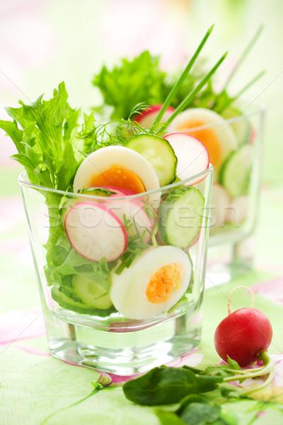 Salada ovo comida natureza verde alimentação Foto stock © sarsmis